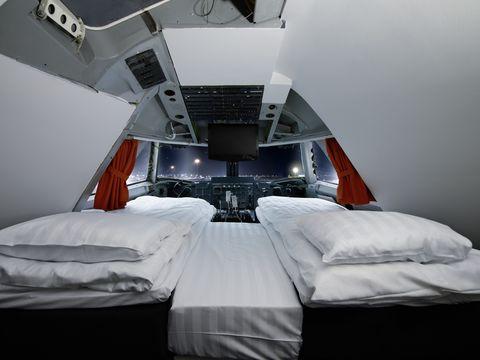 Bedroom, Room, Bed, Bed sheet, Furniture, Bedding, Interior design, Automotive design, Black-and-white, Architecture,