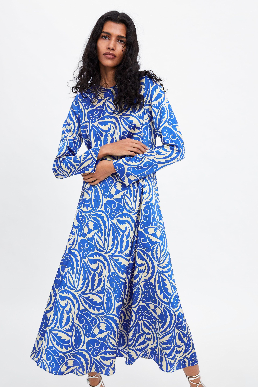 Imagenes de vestidos azul con blanco