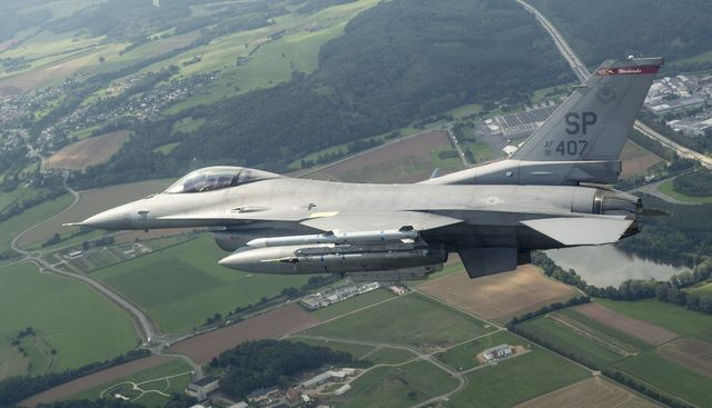 a us air force f 16 fighting falcon from the the 408th fighter squadron, spangdahlem air base, germany, flies a training sortie sept 9, 2015, over germany us air force photo by tech sgt jason robertsonreleased