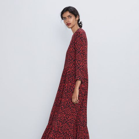 You can now buy THAT Zara polka dot dress in red leopard print