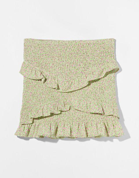 faldas cortas flores bershka