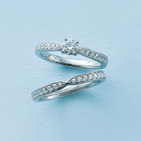 ラザール ダイヤモンド「ウィル」エンゲージリングと「ウィズ」マリッジリング