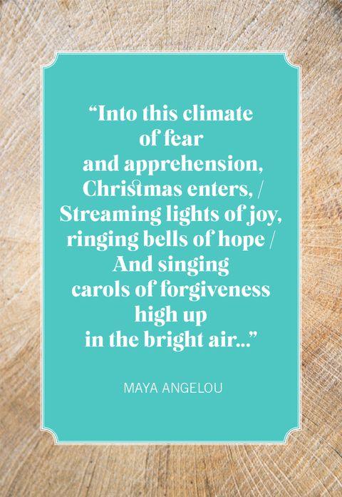 christmas quotes maya angelou