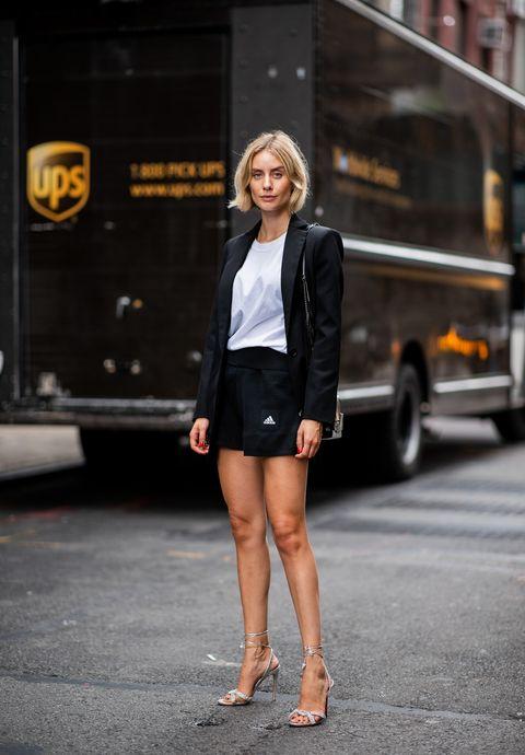 Clothing, Street fashion, Photograph, Fashion, Snapshot, Shorts, Leg, Beauty, Footwear, Jacket,