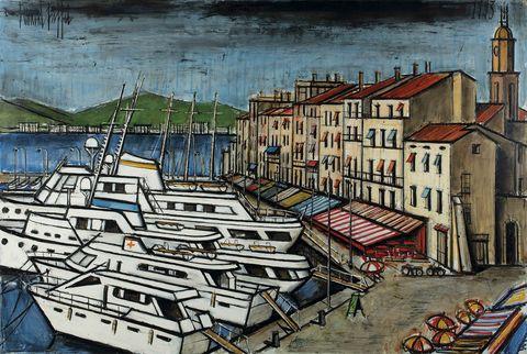 貝爾納畢費,《聖托佩港口》,1993。