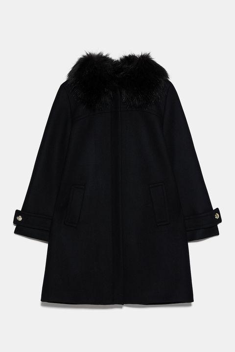 Clothing, Outerwear, Black, Coat, Hood, Sleeve, Fur, Cape, Costume, Collar,