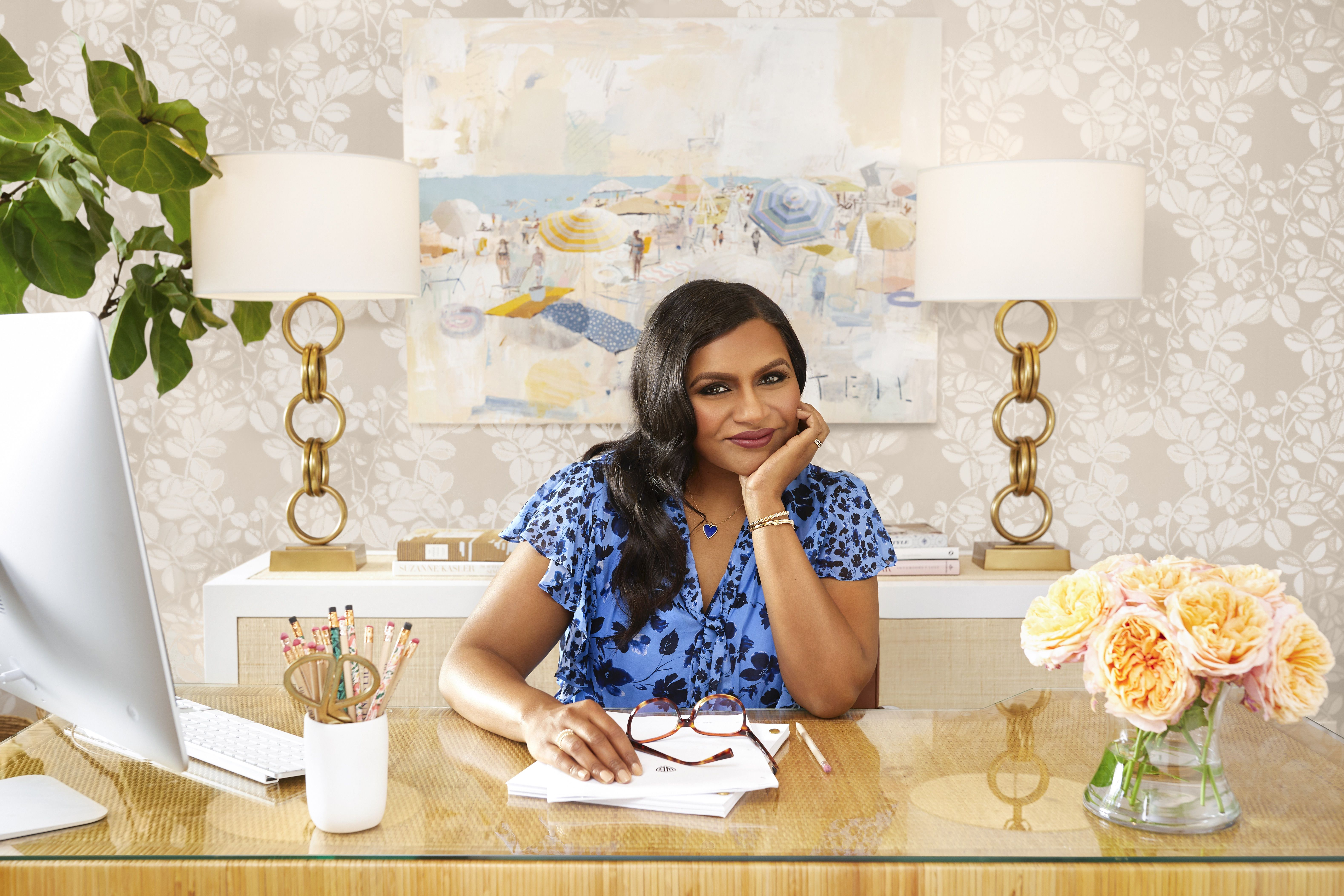 Mindy Kaling Gives ELLE Decor a First Look at Her Fabulous New (Real) Office