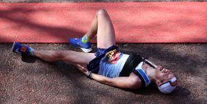 pain running marathon
