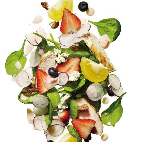 Salade de chèvre aux petits fruits