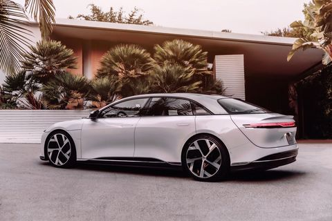 the lucid air dream edition can go up to 503 miles on a charge