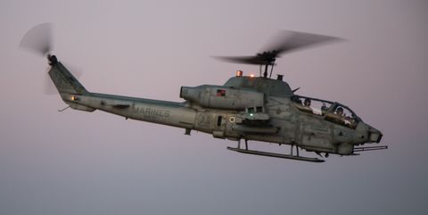 AH-1W attack helicopter.