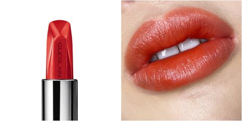 Red, Lip, Lipstick, Cosmetics, Orange, Pink, Beauty, Lip care, Lip gloss, Mouth,