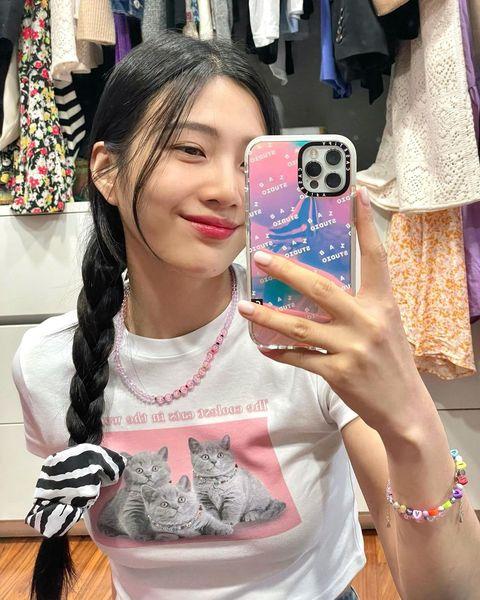 2021韓系「大腸圈」辮子髮型:red velvet joy