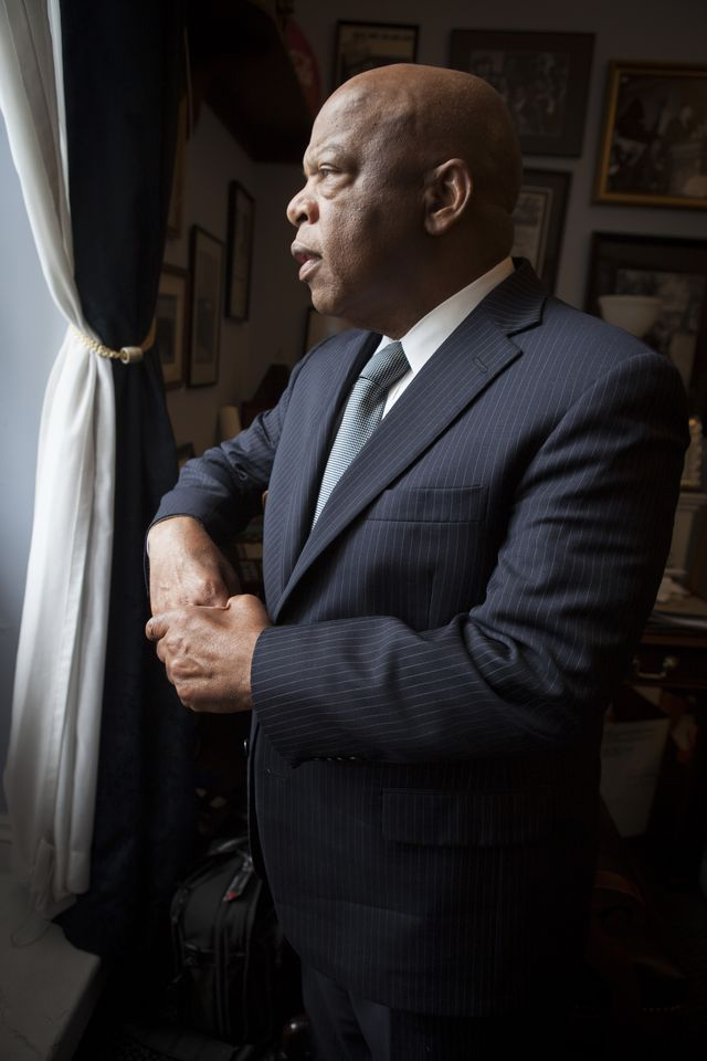 """rep john lewis on thursday, june 13 in his congressional office this was a cnn interview in conjunction with the """"march on washington"""" documentary"""