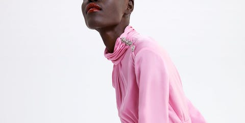 Pink, Clothing, Fashion, Magenta, Dress, Outerwear, Sleeve, Textile, Photography, Costume,