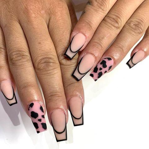 halloween nail ideas  dalmatian