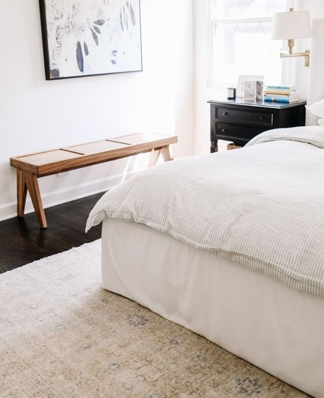 light room with antique rug