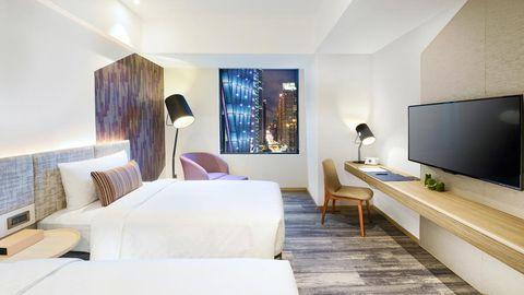 Room, Furniture, Bedroom, Property, Interior design, Suite, Bed, Building, Comfort, Bed sheet,