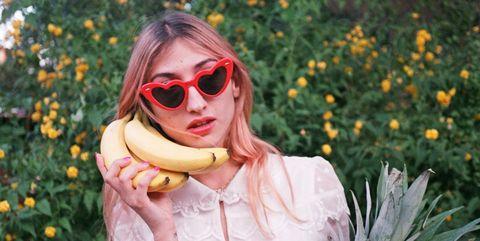Eyewear, Sunglasses, Fashion, Glasses, Botany, Grass, Blond, Cool, Plant, Dress,