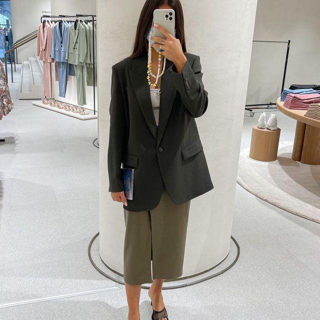 instagram reels falda midi de zara