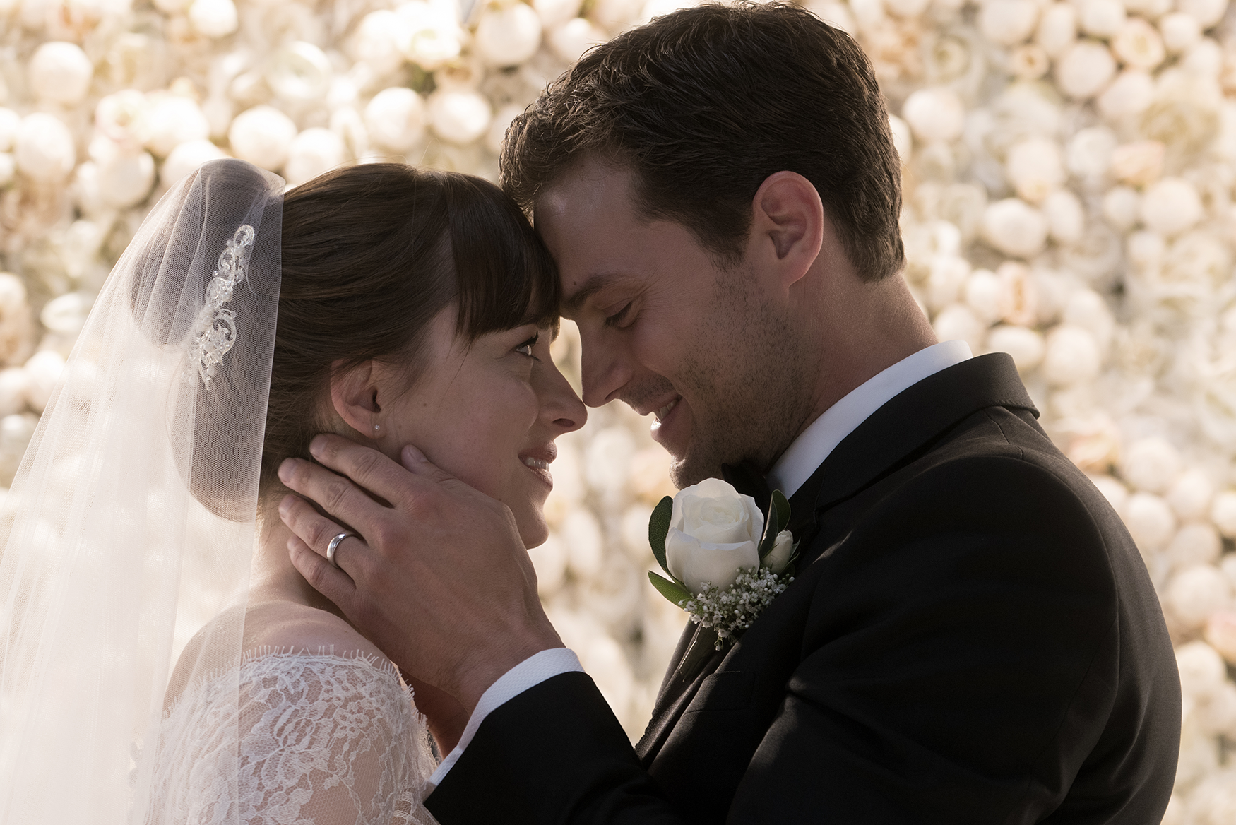 Fifty Shades Freed First Look And Anastasia S Wedding Dance