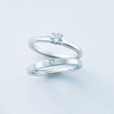 エクセルコ ダイヤモンド「レヨン ド リュミエール」エンゲージリングと「レヨン ド リュミエール」マリッジリング