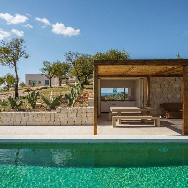 Property, Swimming pool, Real estate, Shade, Resort, Composite material, Rectangle, Plywood, Yard, Backyard,