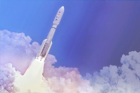 nasa's mars rover launches atop an atlas v rocket