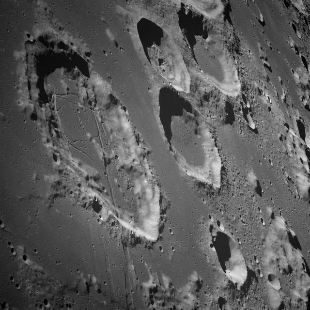craters on moon
