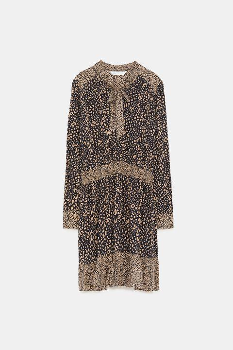 Zara vestido de leopardo