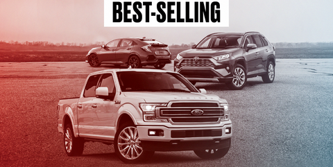 2019 25 best selling cars, trucks, and suvs