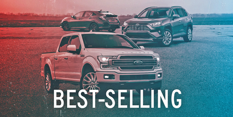 best selling cars, trucks, suvs of 2020