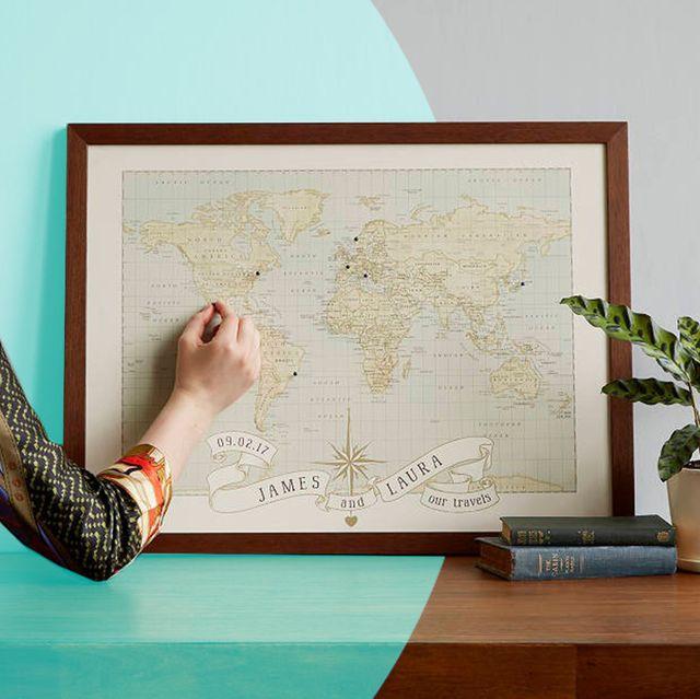 anniversary map gift