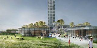 bestseller tower concept drawing grass