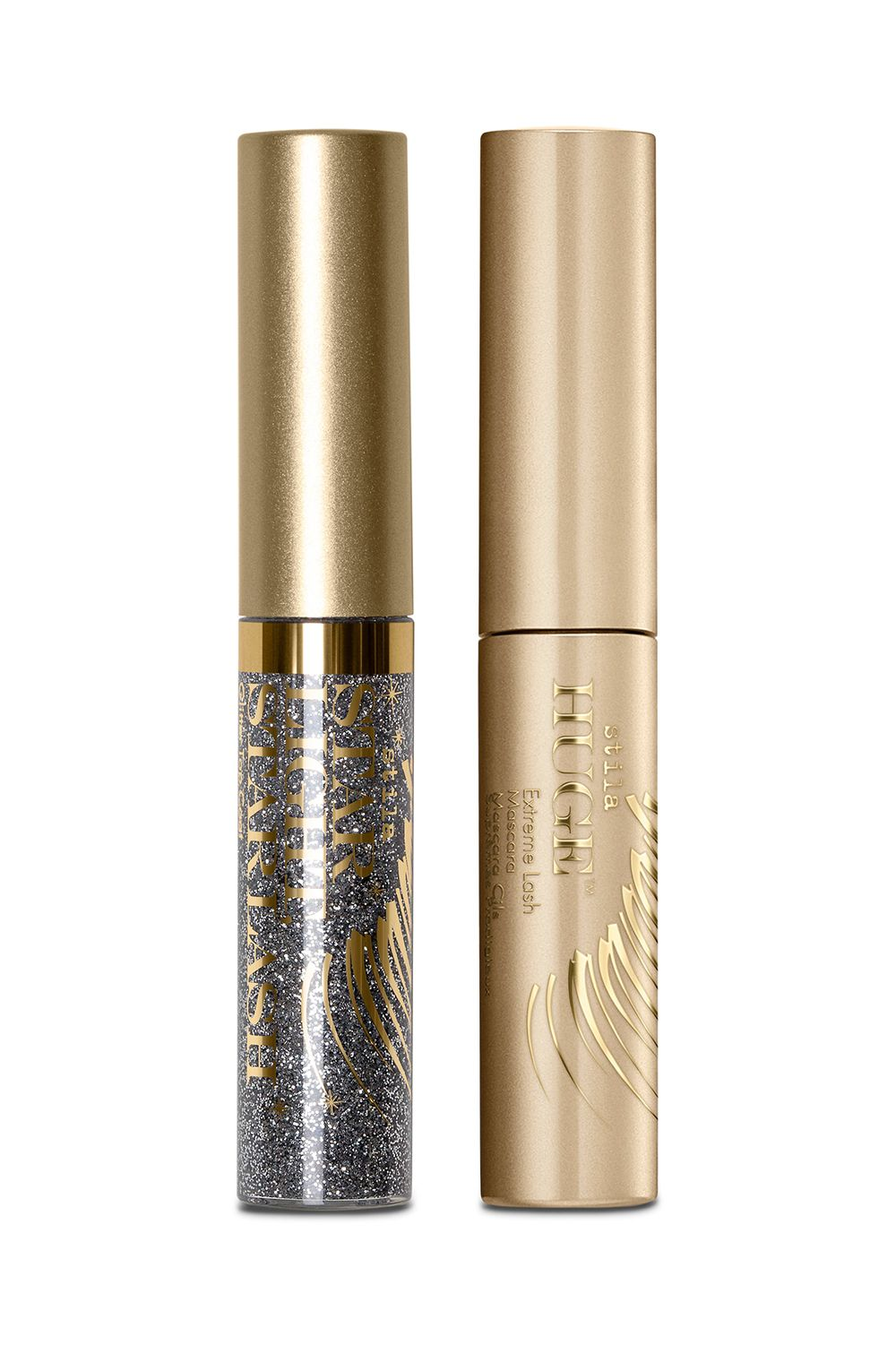 This Fun Mascara Set Stila Fringe With Benefits Set Voluminous lashes look even cooler with a subtle hint of sparkle. Coat your lashes with this glittery topper for proof.