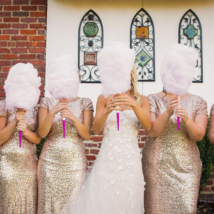 Brides Are Replacing Their Wedding Bouquets With Cotton Candy, And We Bow Down