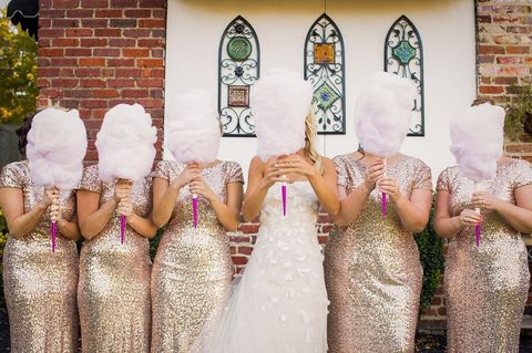 Brides Are Replacing Their Wedding Bouquets With Candy Floss