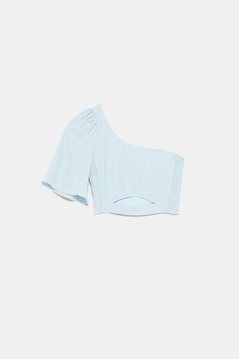 White, Blue, Clothing, Turquoise, Aqua, T-shirt, Briefs, Sleeve, Neck, Undergarment,