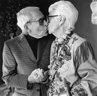 iris apfel with her late husband carl