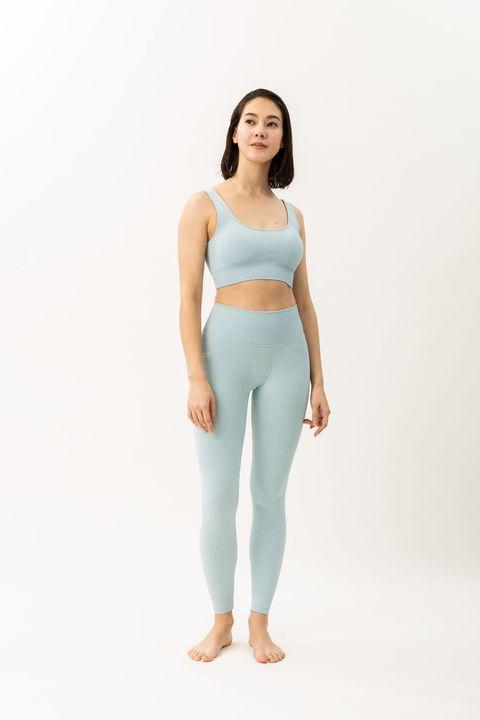 Clothing, Waist, Shoulder, Blue, Turquoise, Aqua, Standing, Undergarment, Sportswear, Active pants,