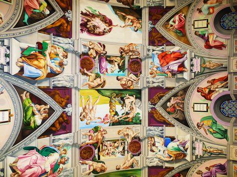 La Cappella Sistina inglese. Storia dell'uomo che copiò Michelangelo, in scala due terzi