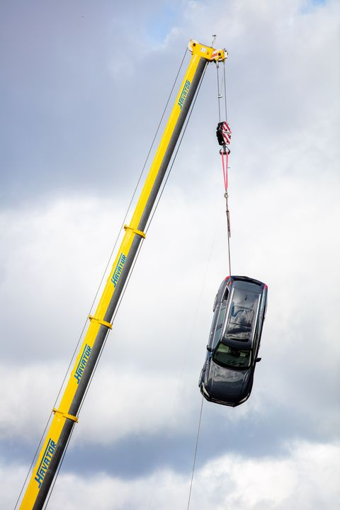volvo dropped for safety testing