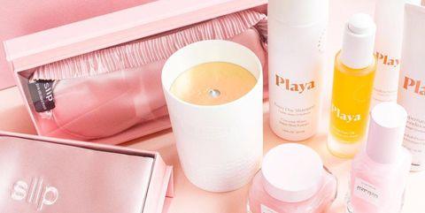 Product, Pink, Skin, Beauty, Cosmetics, Material property, Liquid, Skin care, Lip gloss, Nail,