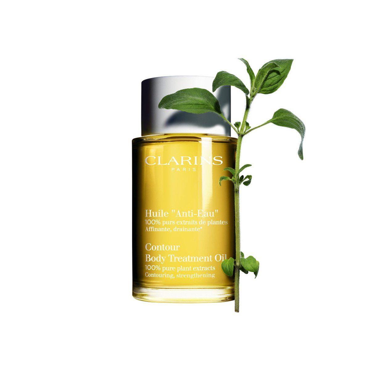 Aceite de tratamiento corporal elaborado al 100% con extractos de plantas de Clarins.