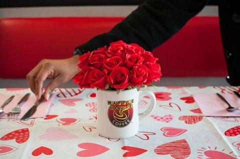 Red, Rose, Flower, Cut flowers, Centrepiece, Carmine, Valentine's day, Petal, Garden roses, Plant,