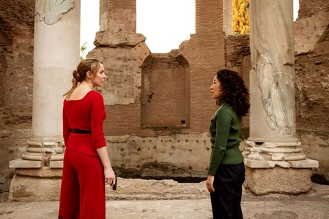 Photograph, Red, Column, Ruins, Tourism, Temple, Ancient history, History, Architecture, Dress,