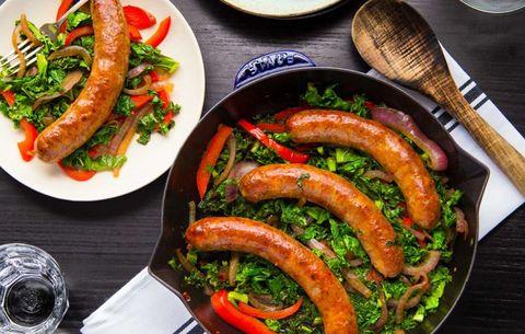 Kale, Sausage, and Pepper Skillet