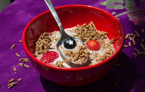 cereal with fiber and fruit