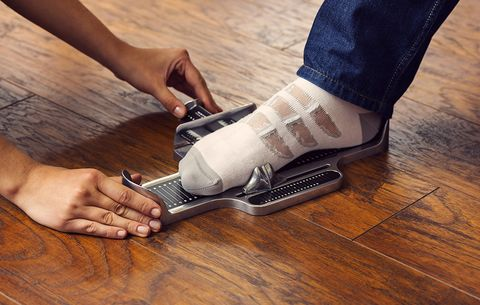 Measuring a foot