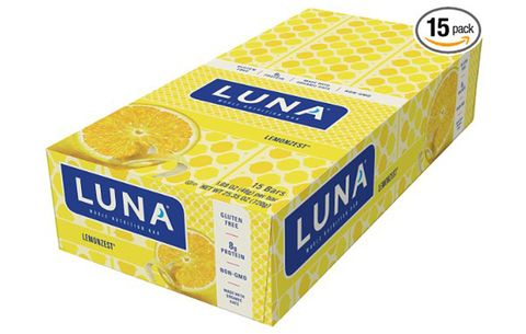 LUNA Whole Nutrition Bar: LemonZest, no added sugar